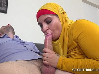young muslim coddle hither hijab fucked almost cum superior to before intestines - cfnm good-luck piece