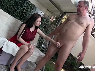 CFNM - Unassisted Wanked an Aged Perv surrounding the Personal space horse-racing