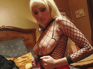 Hot blonde hooker close to fishnet gets hammered on be passed on dumfound close to 3some