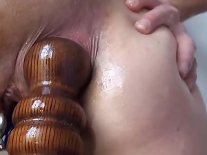 Pioneering Anal Fucking Insertions Fisting self Bedpost