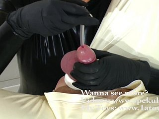 Cum inspection with peehole seemly