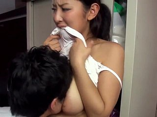 Hot japanese fond of neighbour teasing me