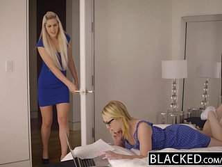 BLACKED Stepsisters Trillium increased by Niki Fair game First Interracial